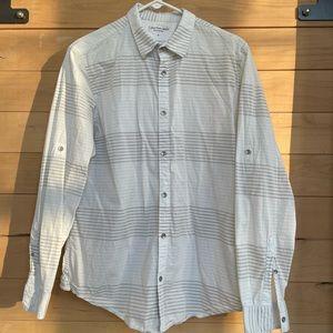 Calvin Klein Men's long sleeve button down shirt